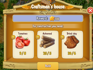 Golden Frontier Craftsman's House Stage 1