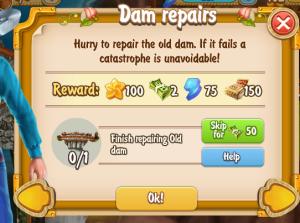 Golden Frontier Dam Repairs Quest