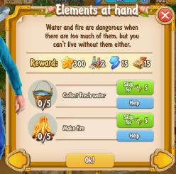 Golden Frontier Elements at Hand Quest
