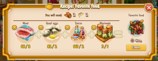 Golden Frontier Favorite Food Recipe (eatery)