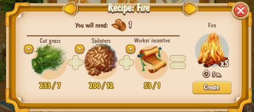 Golden Frontier Fire x5 Recipe (craftsman's House)