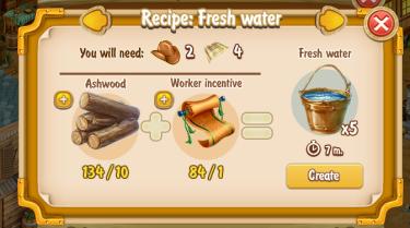 Golden Frontier Fresh Water x5 Recipe (prospector's well)