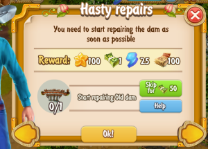 Golden Frontier Hasty Repairs Quest