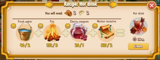 Golden Frontier Hot Drink Recipe (eatery)