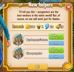 Golden Frontier New Helpers Quest