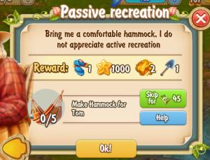 Golden Frontier Passive Recreation Quest