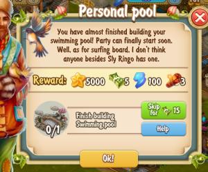 Golden Frontier Personal Pool Quest