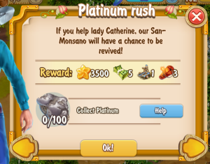 Golden Frontier Platinum Rush Quest
