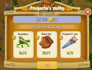 Golden Frontier Prospector's Smithy Stage 1