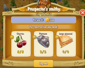 Golden Frontier Prospector's Smithy Stage 2
