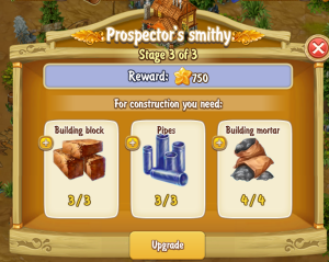 Golden Frontier Prospector's Smithy Stage 3