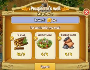 Golden Frontier Prospector's Well Stage 3