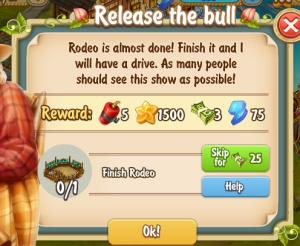 Golden Frontier Release the Bull Quest