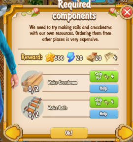 Golden Frontier Required Components Quest