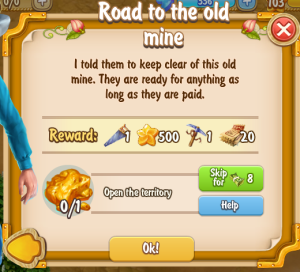 Golden Frontier Road to the Old Mine Quest
