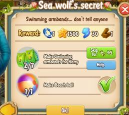 Golden Frontier Sea Wolf's Secret Quest