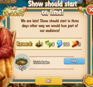 Golden Frontier Show Should Start on Time Quest