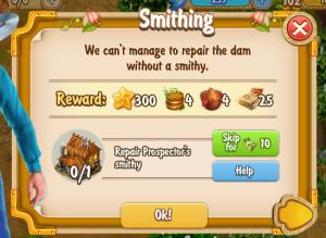 Golden Frontier Smithing Quest