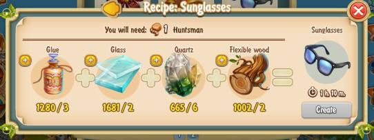 Golden Frontier Sunglasses Recipe (jewellers workshop)