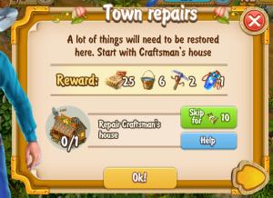 Golden Frontier Town Repairs Quest