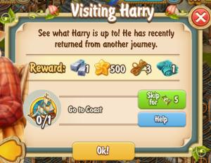 Golden Frontier Visiting Harry Quest