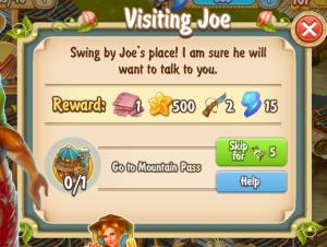 Golden Frontier Visiting Joe Quest