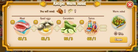 Golden Frontier Warm Salad Recipe (eatery)
