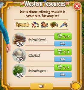 Golden Frontier Western Resources Quest