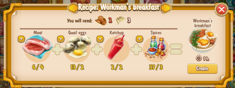 Golden Frontier Workman's Breakfast Recipe (eatery)