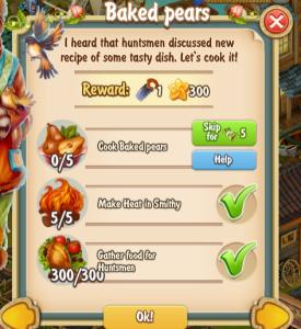 Golden Frontier Baked Pears Quest