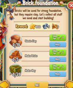 Golden Frontier Brick Foundation Quest