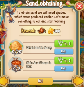 Golden Frontier Sand Obtaining Quest