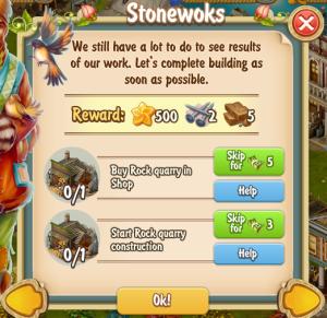 Golden Frontier Stoneworks Quest