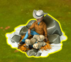cowboy-with-Puppies