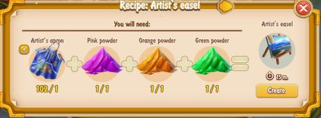 golden-frontier-artists-easel-recipe