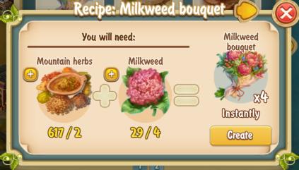 golden-frontier-milkweed-bouquet-recipe