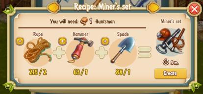 golden-frontier-miners-set-recipe