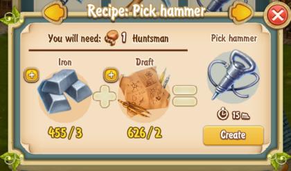 golden-frontier-pick-hammer-recipe